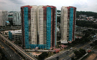 Singapore. Bukit Panjang's new HDB apartments & Maysprings in 2002