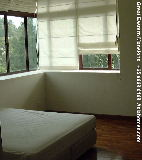 Singapore Great Eastern Mansions master bedroom - Roman blinds, bay windows