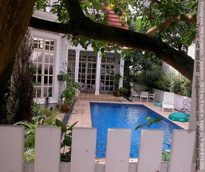 0331ASingapore Woodlands, American School Bungalows, Pools