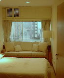 Singapore Plaza Pacific Serviced Apartments, master bedroom of 2 bedroom unit