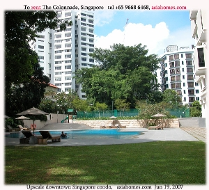 The Colonnade, upscale, downtown Singapore condos for rent. Asiahomes.com