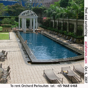 Singapore upscale serviced apartments - Orchard Parksuites- asiahomes.com rental
