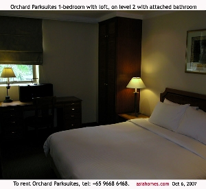 Upscale Singapore serviced apartments-Orchard Parksuites. Tel +65 9668-6468 to rent. asiahomes.com