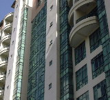Only higher floors of Tanglin Regency, Singapore have small balconies.