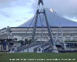 Suspension Bridge across Kallang River to supermarkets, Indoor Stadium, Singapore