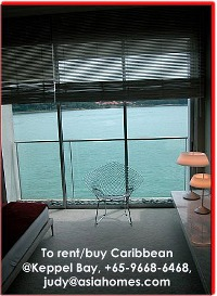 Sea views from Caribbean@Keppel Bay bedrooms.  +65 9668-6468, asiahomes.com