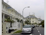 Holland Grove View houses with pastel colours. Sunday 4 p.m Oct 15 2000.