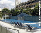 One Holt Road, Singapore. Spacious sun deck and lap pool