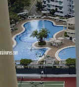 Orchid Park condo pool, tennis court