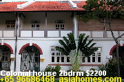 Singapore colonial townhouses 2bdrm $2200, 3 & 4 bdrms from $3000