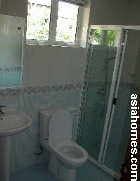 Powder room downstairs.The Compass At Chancery townhouses
