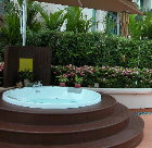 Singapore Fraser Place.  Jacuzzi near the Spa Pavillon