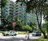 Shangri-La Residences is opposite Shangri-La Hotel, off Orange Grove Road