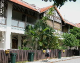Singapore Townerville 3-bedroom colonial townhouses - school boy with heavy bag