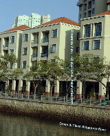 Riverside View Serviced Apartments facing the Singapore River