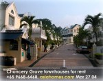 Serene green residential enclave near downtown, Chancery Grove townhouses, Singapore