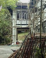 Bedroom 3 (left). Mount Pleasant, black and white, Singapore