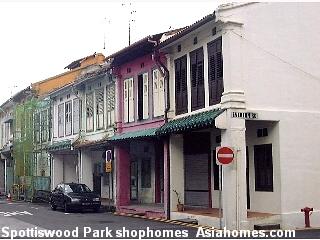 Singapore Spottiswood Road shophomes