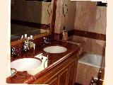The Clayton's luxurious master bathroom