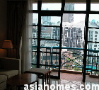 Singapore Riverside View Serviced Apartments - balcony & living area 3 bedroom
