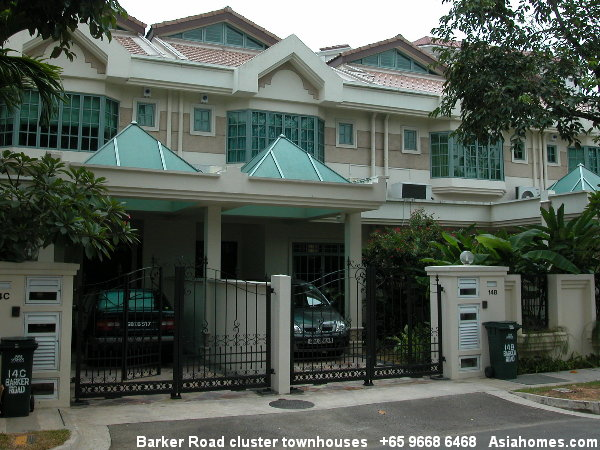 1205singapore bungalows detached barker road cluster for Terrace house singapore