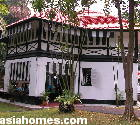 Singapore bungalow. Black & White colonial bungalow